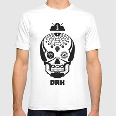 Mexican Skull White SMALL Mens Fitted Tee
