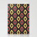 Zig Zag Ikat Stationery Cards