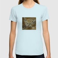 Sand Cat Womens Fitted Tee Light Blue SMALL