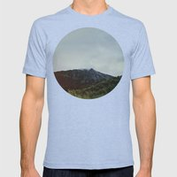 The Last Frontier Mens Fitted Tee Tri-Blue SMALL