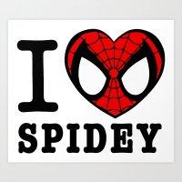 I love Spidey Art Print