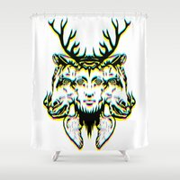 GOD II Psicho Shower Curtain