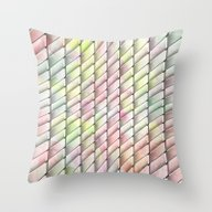 Throw Pillow featuring Diagonal Curves 3 by Janice Austin Design…