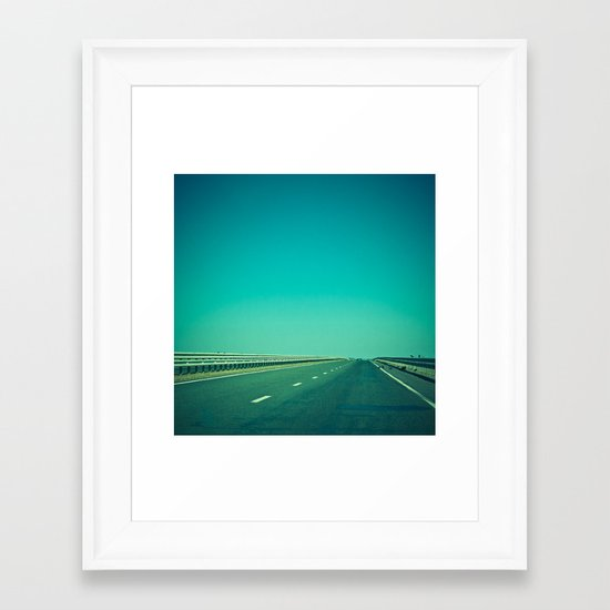Lonely Way Framed Art Print