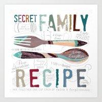 Secret Family Recipe Art Print