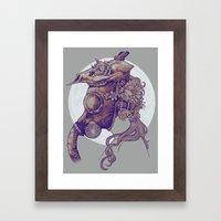 Gas Mask Framed Art Print