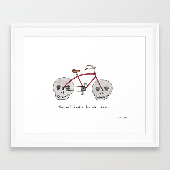 the most badass bicycle ever Framed Art Print