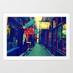 A Look Through Fan Tan Alley Art Print