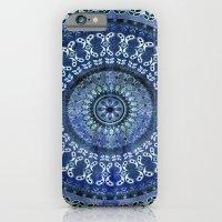 Vintage Blue Wash Mandala iPhone 6 Slim Case