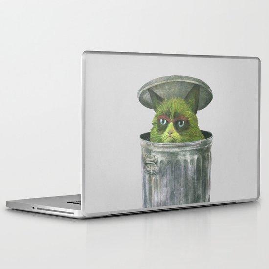 Grouchy Cat  Laptop & iPad Skin