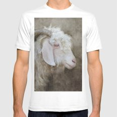 The beautiful goat Mens Fitted Tee White SMALL