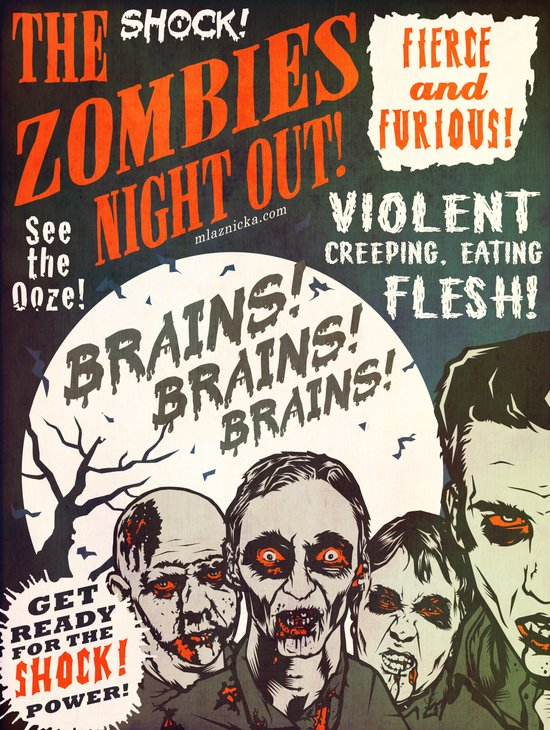 The Zombies Night Out! Art Print