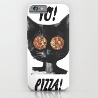 iPhone & iPod Case featuring Pizza Cat by Zumzzet