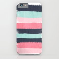 Cecily - abstract paint brush strokes paintbrush brushstrokes boho chic trendy modern minimal  Slim Case iPhone 6s