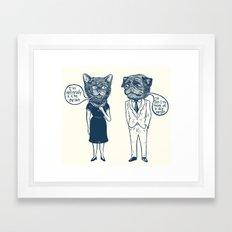 Types Of People Framed Art Print