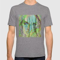 Woman On Wood Mens Fitted Tee Tri-Grey SMALL