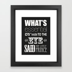 Quote from Little Prince Framed Art Print
