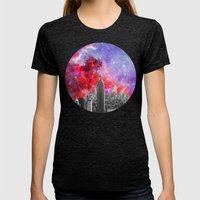 NEBULA NEW YORK Womens Fitted Tee Tri-Black SMALL