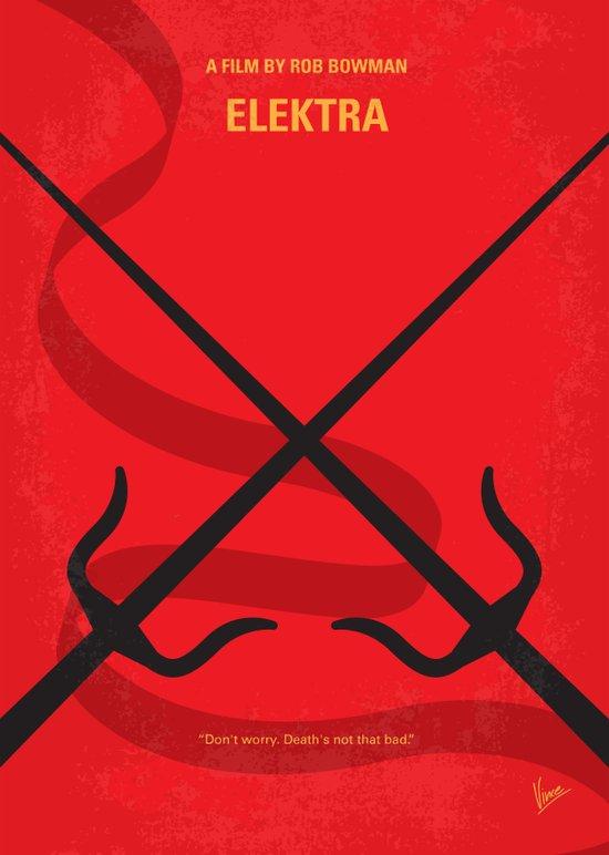 No060 My ELEKTRA minimal movie poster Canvas Print