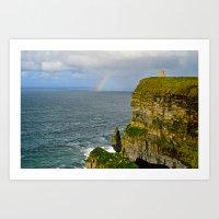 Cliffs Of Moher Rainbow Art Print