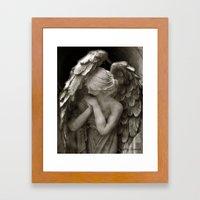 Angel Praying Framed Art Print