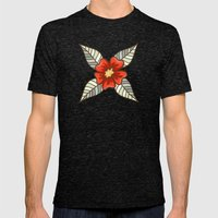 Guild of flowers and leaves Mens Fitted Tee Tri-Black SMALL