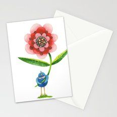 Red Wonder Flower Stationery Cards