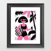 Sassy Gal Loves Summer Framed Art Print