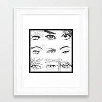 Many Eyes Framed Art Print
