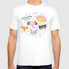 Confetti SMALL Mens Fitted Tee White