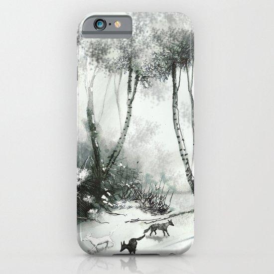 Schnee und Wölfe iPhone & iPod Case