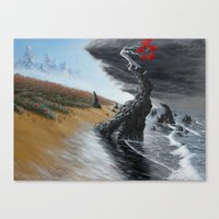 Breaking The Tide Canvas Print