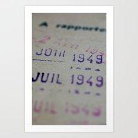 Due date Art Print