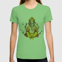 Ganesha Womens Fitted Tee Grass SMALL