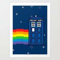 TARDIS / Nyan / 8-Bit Po… Art Print