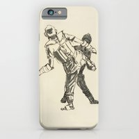 iPhone & iPod Case featuring Tae Kwon Do Sparring by Karen Herman Jacquez