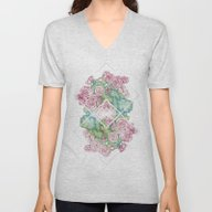 Flores Unisex V-Neck