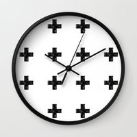 Watercolor Swiss Cross (White) Wall Clock