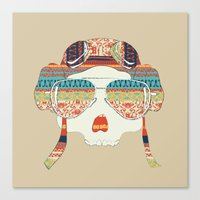 Retro Aviator Canvas Print