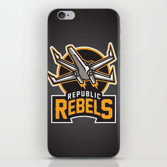Republic Rebels - Black iPhone & iPod Skin