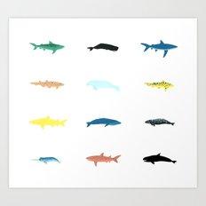 sea creature pattern Art Print