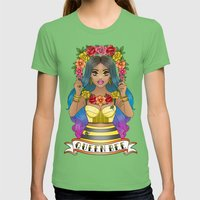Buzz Buzz Womens Fitted Tee Grass SMALL