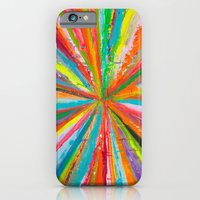 iPhone Cases featuring Exploding Rainbow by Shane W. Link