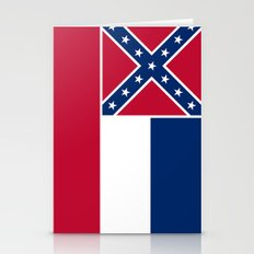 Mississippi State Flag - Authentic Version Stationery Cards