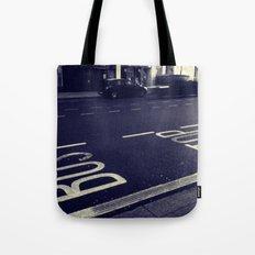 Bus Stop bw Tote Bag