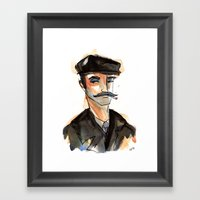 Greek Fisherman Framed Art Print
