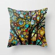 Fairy Tale Tree Throw Pillow