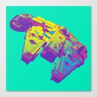Pop Millennium Falcon On… Canvas Print