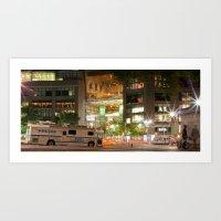 Columbus Circle @ Night Art Print