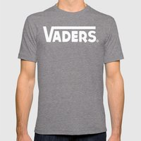 Off The Deathstar Wall  Mens Fitted Tee Tri-Grey SMALL